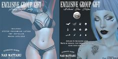 Strappy Bra & Panties and Hallowed Face Tattoos Group Gifts by Nar Mattaru