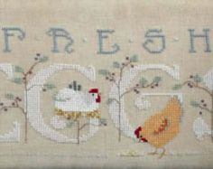 NEW Pick One Free Range 337 or Vintage Eggs 336 cross stitch patterns by Cross-Eyed Cricket Collection Easter Eggs