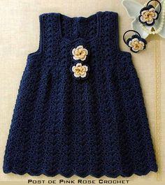 Crochet dress, free chart pattern