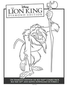 Printable Rafiki Lion King Coloring Sheet