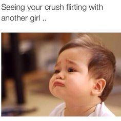 "65 Funny Dating Memes - ""Seeing your crush flirting with another girl."" 65 Funny Dating Memes - ""Seeing your crush flirting with another girl. Flirting Quotes For Her, Flirting Memes, Dating Memes, Memes Humor, Jokes, Greetings From Germany, Wie Man Flirtet, Crush Humor, Crush Funny"