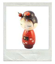 """Poupée Kokeshi faite à la main, """"Hanadayori"""" fabriquée au Japon"""
