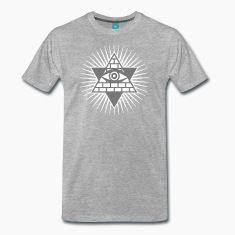 Allsehende Gottesauge. Herren T-Shirt - freie Farbwahl. Shirts auch in Übergrößen. Herren Freizeit T-Shirts mit christlichen Motiven in unserem Shop.