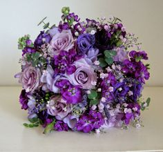 4 of the Best Bridal Bouquet Ideas for 2014 - different shades of violet
