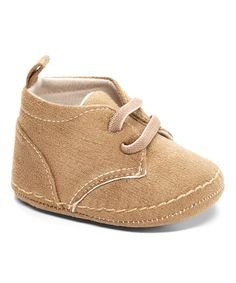 Look at this #zulilyfind! Xeyes Camel Faux Suede Crib Shoes by Xeyes #zulilyfinds