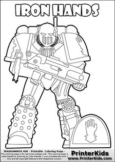 Coloring page showing a high detail Blood Angels Space
