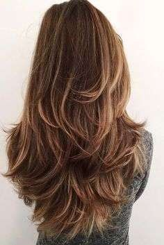 12 Fun and Stylish Long Haircuts for Long Layered Hair 💇 homedecor home holiday diy decor dresses desserts winter fashion women makeup trendy christmas hairstyles hair haare frisuren 💇 Long Shag Haircut, Haircut For Thick Hair, Wavy Hair, Hair Bangs, Hair Cuts For Long Hair With Bangs, Messy Haircut, Haircut Bob, Hair Cuts For Moms, V Haircut With Layers