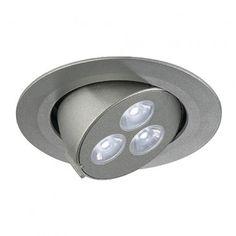 TRITON GIMBLE LED 3x1W, silber eloxiert, LED weiss / LED24-LED Shop