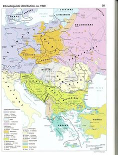 Ethnolinguistic distribution, ca. 1900 (from the Historical Atlas of East Central Europe)