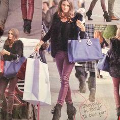 Christian laboutin boots. Dior bag. Olivia Palermo
