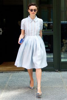 Best Dressed Of The Week: June 27 Keira Knightley: Yes, it's another win from Keira, but it's one we couldn't miss: the actress paired her '50s-inspired pastel blue dress with silver heels and a navy clutch for an impeccable look.