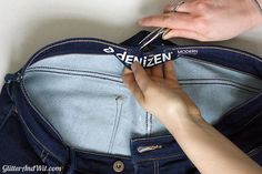 How to Take in a Jeans Waist - The Sewing Rabbit