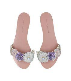 Shoes: Sandals Sophia Webster Embellished Satin Lilico Slides