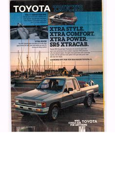 1987 Toyota SR5 Xtracab Sport truck - National Geographic June 1987