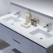 The Adams modern bathroom vanity is the largest in the collection from Inolav. This floating double vanity looks great in contemporary bathrooms. Contemporary Bathrooms, Modern Bathroom, 72 Inch Vanity, Solid Surface, Double Vanity, Sink, Bathroom Vanities, Home Decor, Future