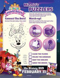 Free Disney Minnie-Rella Valentine's Day Activity Pages