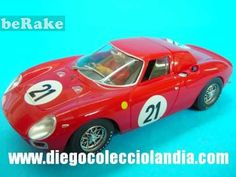 "Vendo Ferrari 250 lm "" ganador de le mans 1965 "" de flyslot. ref/ 053106.coche para scalextric. www.diegocolecciolandia.com..."