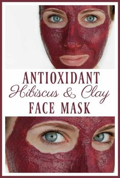 "Antioxidant Hibiscus and Clay Face Mask Did you know that hibiscus is called the ""botox plant""? Hydrate, exfoliate, revive, and strengthen your skin with this antioxidant hibiscus and clay face mask! Face Mask For Pores, Clay Face Mask, Homemade Face Masks, Homemade Skin Care, Homemade Beauty, Diy Beauty, Clean Beauty, Beauty Hacks, Homemade Moisturizer"