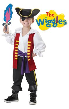 The Wiggles Captain Feathersword Pirate Costume Child Toddler