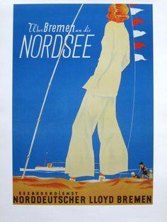 NORDDEUTSCHER LLOYD (NDL), Seebäderdienst, Reedereiposter, 47 x 60 cm = DIN A2 | eBay