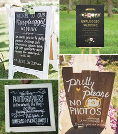 Unplugged weddings | a hot trend for 2016 weddings | see more on www.onefabday.com