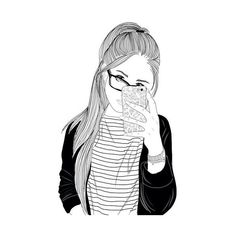 We Heart It ❤ liked on Polyvore featuring fillers, sketches, doodles, drawings, text, outline, fillers - drawings, quotes, saying and scribble