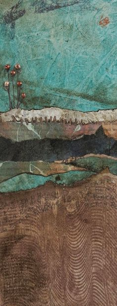 Collage art of Laura Lein-Svencner: Abstract mini landscapes