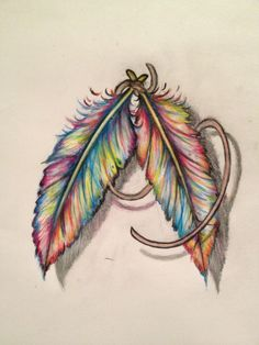 Colorful Feather Tattoos Tumblr Colorful feath