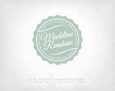 Premade Logo Design & Watermark Customizable for Small Business - vintage, circular, scallop, retro, photography. $25.00, via Etsy.
