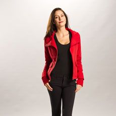 Our zippy asymmetric full-zip cardigan is tailored for comfort and versatility in our Eco Tech Fleece, a yummy blend of polyester, organic cotton and spandex. This funky fleece has the spirit to step from the yoga studio to the airport in style!   • Asymmetric full zip cardigan   • Rib collar with quilted self (fleece) lining   • Hand gaiters   • Patch pockets with side and top opening   • Logo   • Length: 24 in./61 cm