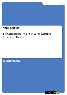 dream essay thesis