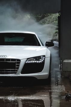 Audi-the first time I saw these lights was at night & it freaked me out a bit cuz I had never seen lights like them before, finally realized it was car when it passed me