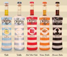 The Desirée Flavored Vodka Collection Cupcake, Original, Red Velvet Cake, Crème Brûlée and Brownie Batter