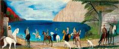 The artwork Ride by the sea - Tivadar Csontváry-Kosztka we deliver as art print on canvas, poster, plate or finest hand made paper. Oil On Canvas, Canvas Art, Canvas Prints, Art Prints, Arabian Theme, Impressionist, Hand Painted, Fine Art, Artwork