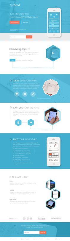 Dribbble shot by Alex Banaga http://dribbble.com/shots/1344604-App-Seed-Landing-Page-Concept?list=following