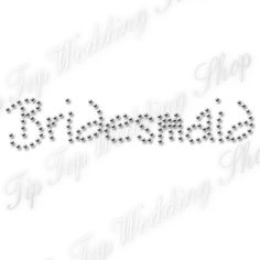 £3.29 free delivery Diamante Bridesmaid Funky Iron on T Shirt Transfer