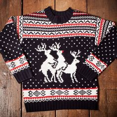 Reindeer Threesome Christmas Jumper from Firebox.com