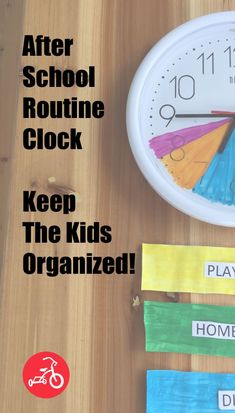 Similar to an alarm clock, these clocks are designed to keep the kids' activities organized and kids on track with minimal reminders. The new year seemed like the perfect opportunity to create a back-to-school routine and add structure to the afternoon and evening.