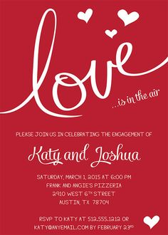 Love is in the Air Engagement or Valentine by freshlycutcards