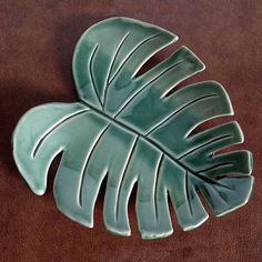 Monstera Leaf Tray Ceramic Monstera Leaf Bohemian Home