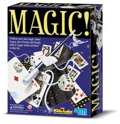 Amaze friends and family with 12 different magic tricks! Includes everything you need to get started in the world of magic: wand, playing cards, rope, instructions, and more.