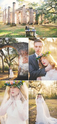 Connection Photography, Old Sheldon Church Ruins, SC, Beaufort, styled, Essence of Australia , blue, cobalt blue, blueberries, tie, Beautiful Idiot Clothing, Groom, details,  Bride, Wedding Photography, Destination Wedding Photography, Southern Wedding, Flower Crown, Salisbury Flower Shop, Cake, Cakespirations, Lace, Wedding Dress, Wedding Inspiration, Veil