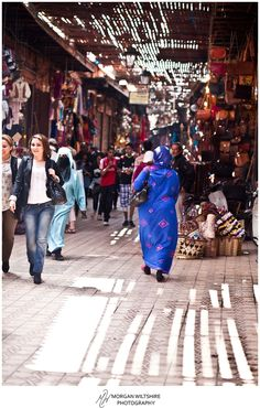 Africa: A souk in Morocco