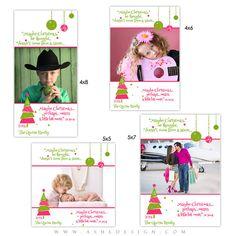 CHRISTMAS Photo Card Set WHIMSICAL CHRISTMAS Digital