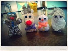 Decorazioni per l'albero di Natale all'uncinetto. Amigurumi Christmas Ornaments.