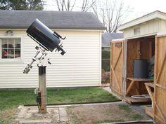 Dan Kaiser's Crescent Moon Observatory: roll-away shed