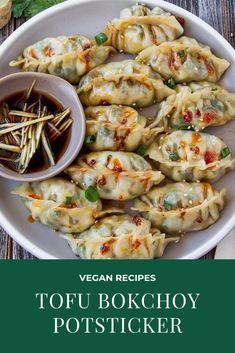 This tofu bokchoy Potstickers are a perfect vegan dimsum for you, it's healthy and delicious. here's the recipe This tofu bokchoy Potstickers are a perfect vegan dimsum for you, it's healthy and delicious. here's the recipe Whole Food Recipes, Cooking Recipes, Healthy Recipes, Chinese Tofu Recipes, Healthy Vegetarian Recipes, Healthy Vegan Recipes, Tofu Dinner Recipes, Thai Recipes, Vegan Food