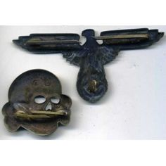 Eagle and skull from SS cap