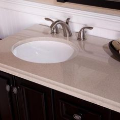 Captivating Colorpoint Composite Vanity Top In Beach With White Undermount Bowl · Vanity  TopsHome DepotVanities