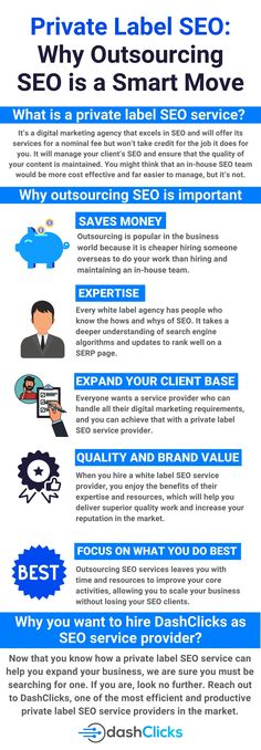 SEO business is growing rapidly with the increasing online market, and clients are looking for agencies that can run their SEO for them. But are you and your team ready to handle the extra workload while still maintaining quality? If not, then with a seo agency at your back you can easily manage work If you are looking for a white label seo agency then look on further. Reach out to DashClicks, one of the most effective and productive private label seo service providers in the market. Online Marketing, Digital Marketing, Growing Business, Seo Agency, Do You Work, Can Run, Private Label, Seo Services, Search Engine Optimization